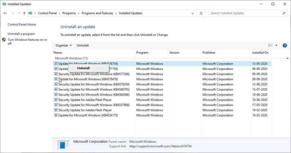 KB4576754更新强制在Windows 10 2004上安装新版