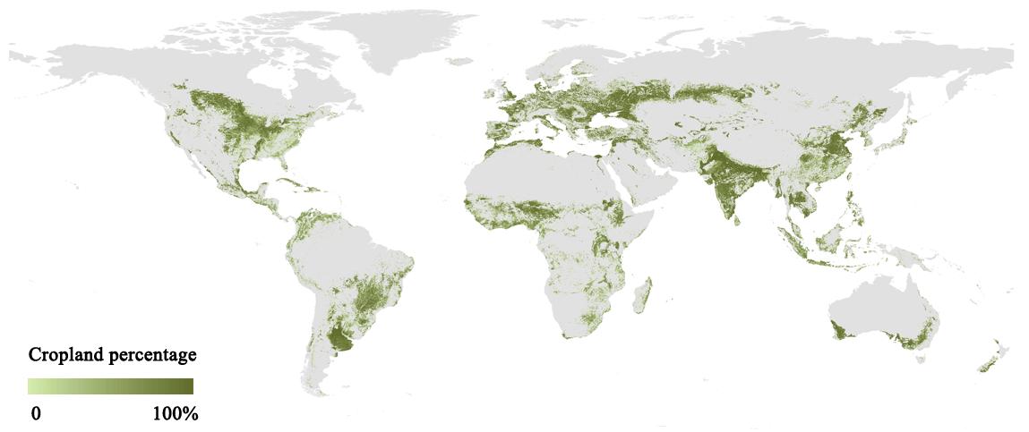 全球耕地有多少?我国科学家研发新一代全球高精度耕地分布制图