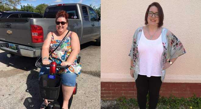 女子两年减重70公斤 曾需使用升降机上下楼