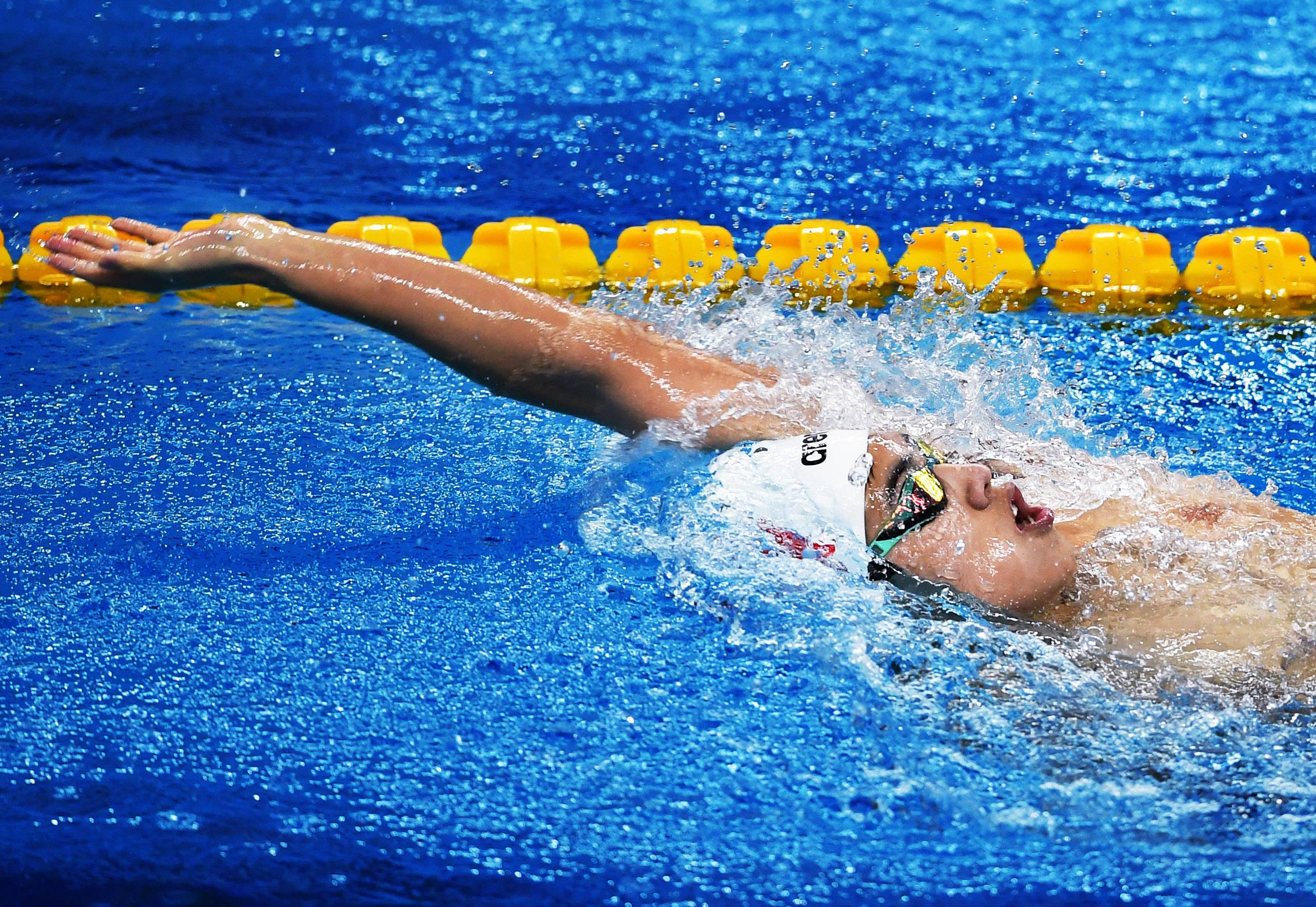 游泳——全国冠军赛:男子U15 200米个人混合泳预赛赛况