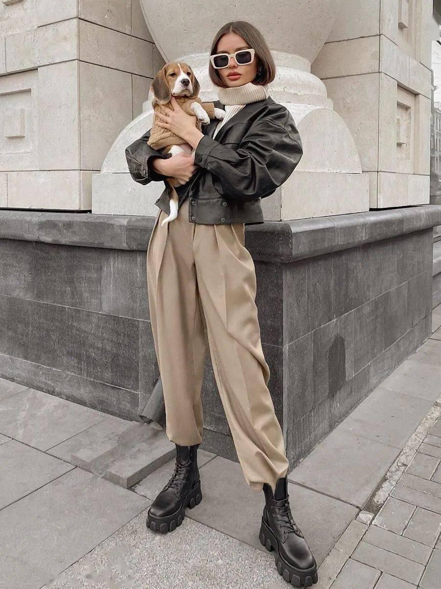 马丁靴+裙子,马丁靴+工装裤……又酷又撩,时髦炸了!     第8张