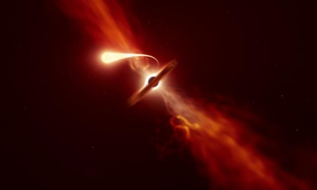 """迄今最近距离围观一颗恒星被黑洞撕成""""意大利面条"""""""