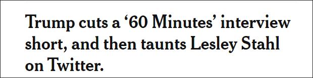被《60分钟》主持人提问惹怒,特朗普中断录制转身发推大骂
