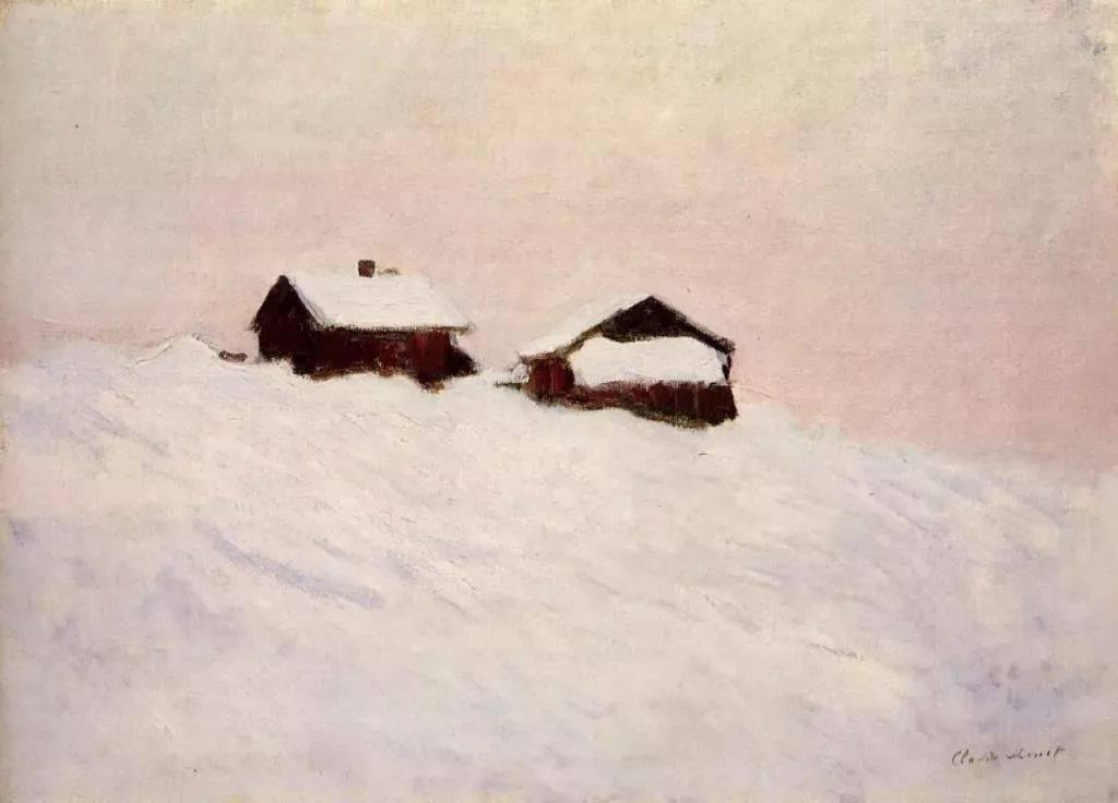 莫奈的雪景 静谧 优雅