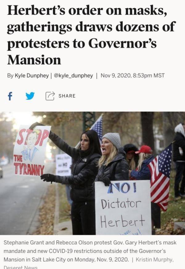 """北美观察丨美国疫情全面失控 民众却在抗议""""口罩强制令"""""""