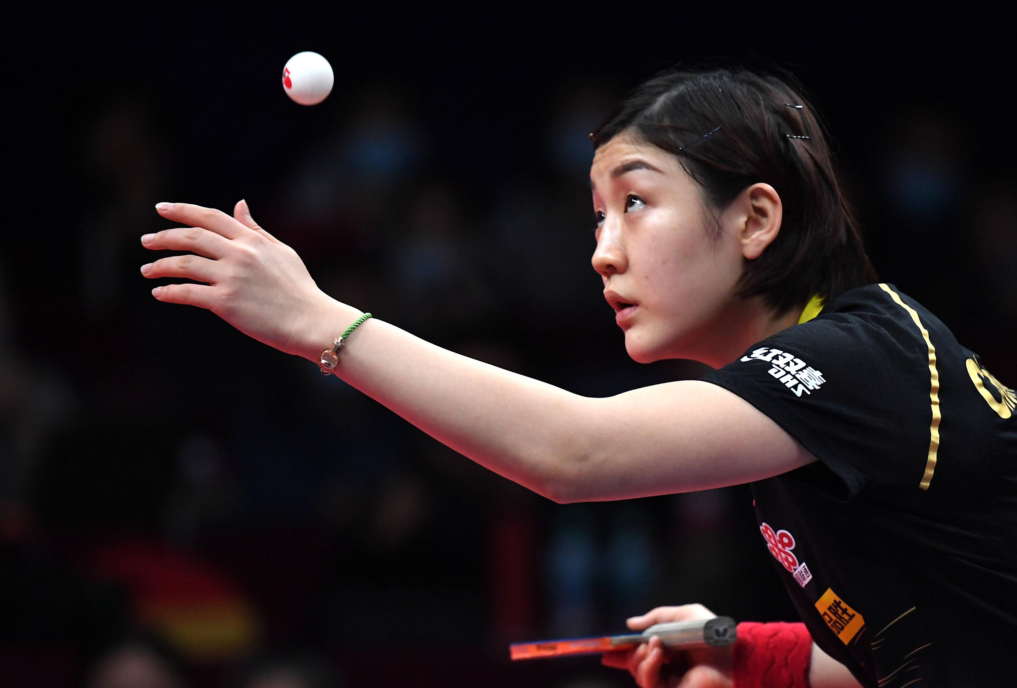 乒乓球——国际乒联总决赛:陈梦夺冠
