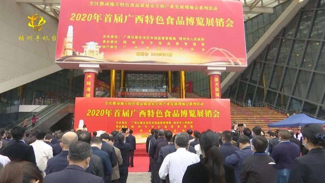 2020年首届广西特色食品博览展销会举行开幕(图2)