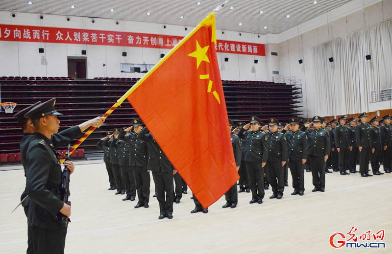 告别军旗!战略支援部队某部举行士兵退役仪式