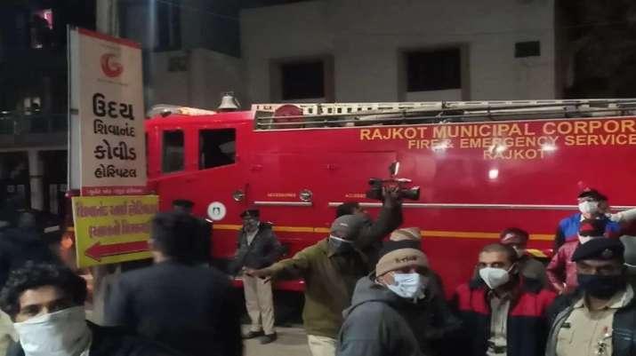 印度古吉拉特一新冠肺炎定点医院起