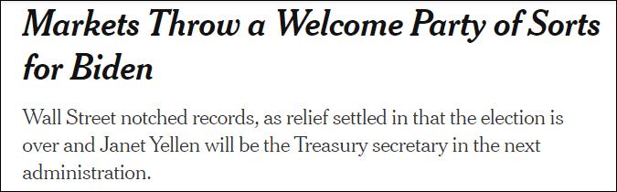 """拜登当选美股就要崩盘?特朗普被""""打脸"""""""