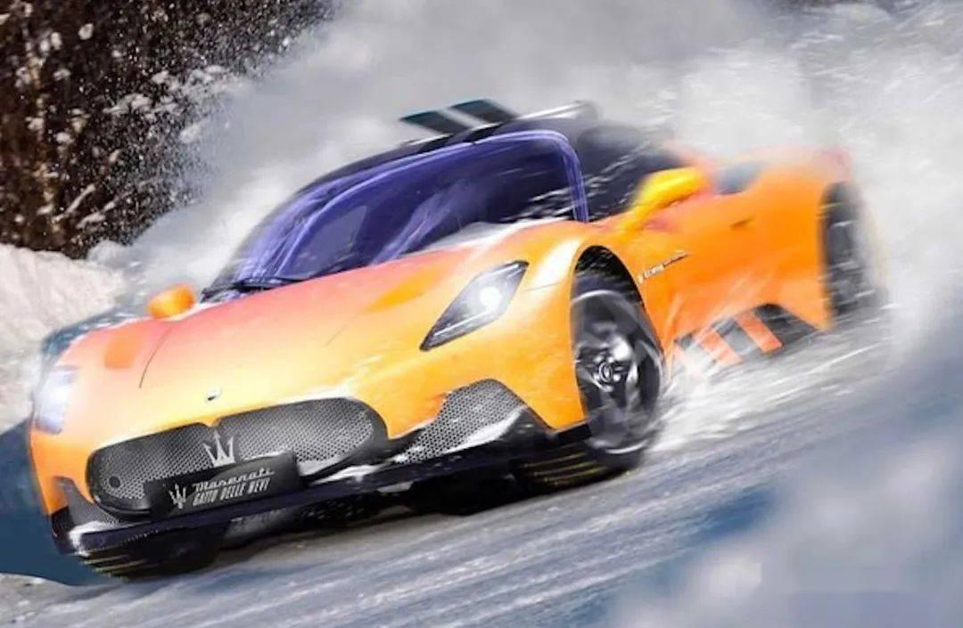 玛莎拉蒂MC20官方效果图定制版,超级跑车,可以在雪地里玩