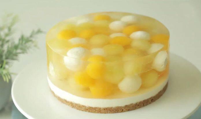 水果球冷冻蛋糕,太棒了!