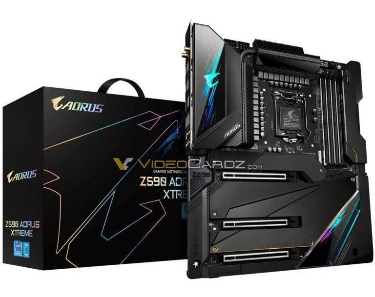 千兆字节Z590 AORUS Xtreme主板暴露:20个单相电源