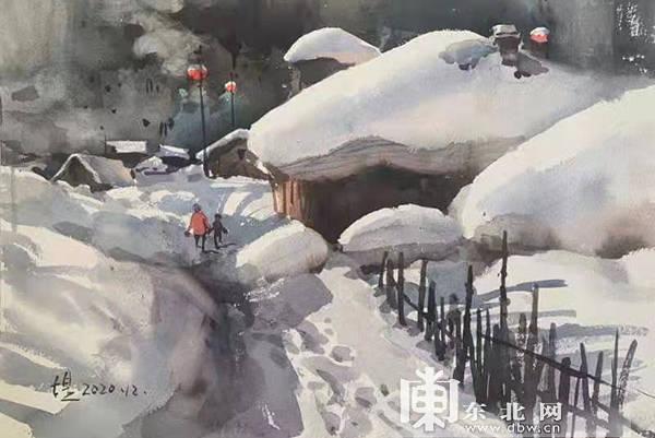 冰雪画展亮相太阳岛雪博会