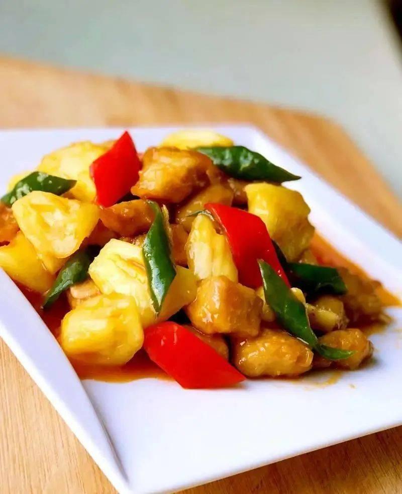 广东特色名菜——菠萝古老肉,酸甜可口,香嫩酥脆,好吃极啦!