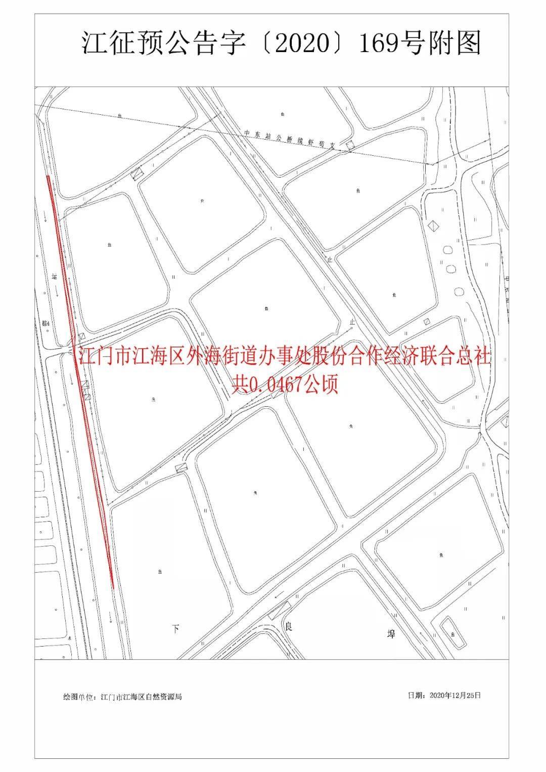 拟征收土地公告——江海区2019年度第七批次