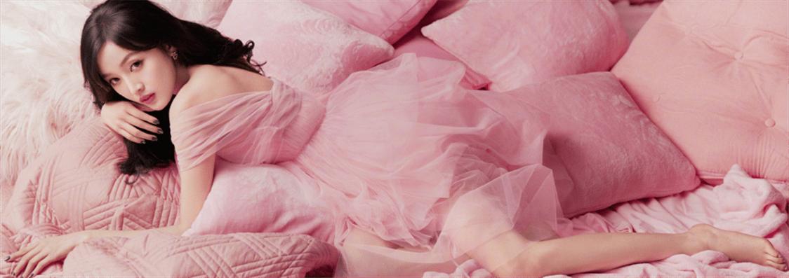 火箭少女拍粉色系大片 演绎夏日甜心