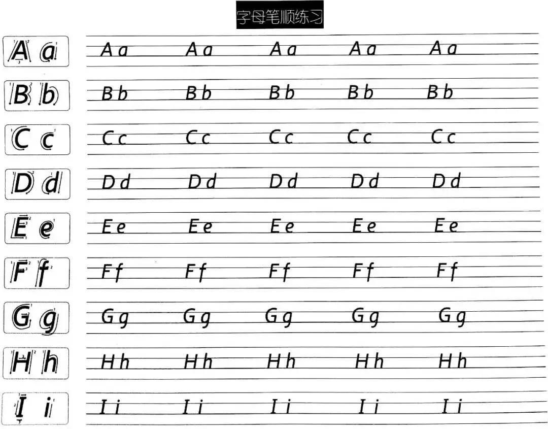 衡水体26个字母写法(衡水体26个标准手写体)