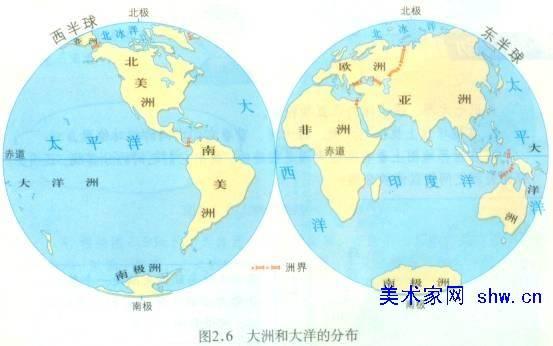 七大洲分界线地图(七大洲分界线地图高清简图)