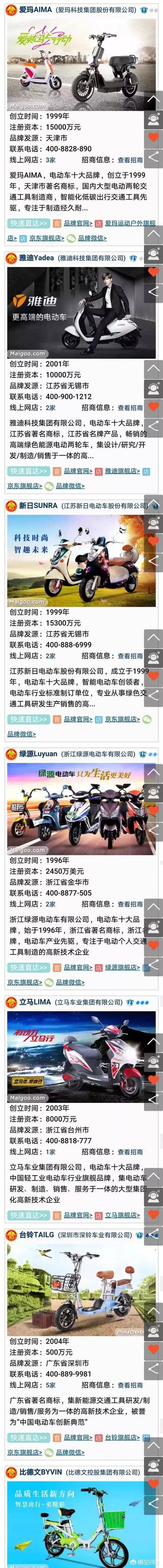 电动自行车品牌排行(电动车品牌大全50强)