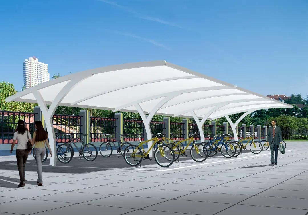 <b>膜结构自行车棚有哪些特点?</b>