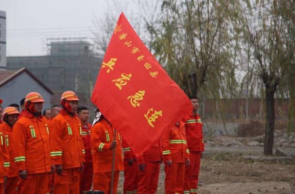 玉田县开展了军地联合森林防灭火综合演练