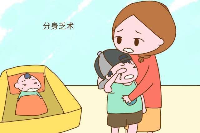 吼完大宝哄二宝!妈妈:宝贝,对不起,妈妈只是太累了!