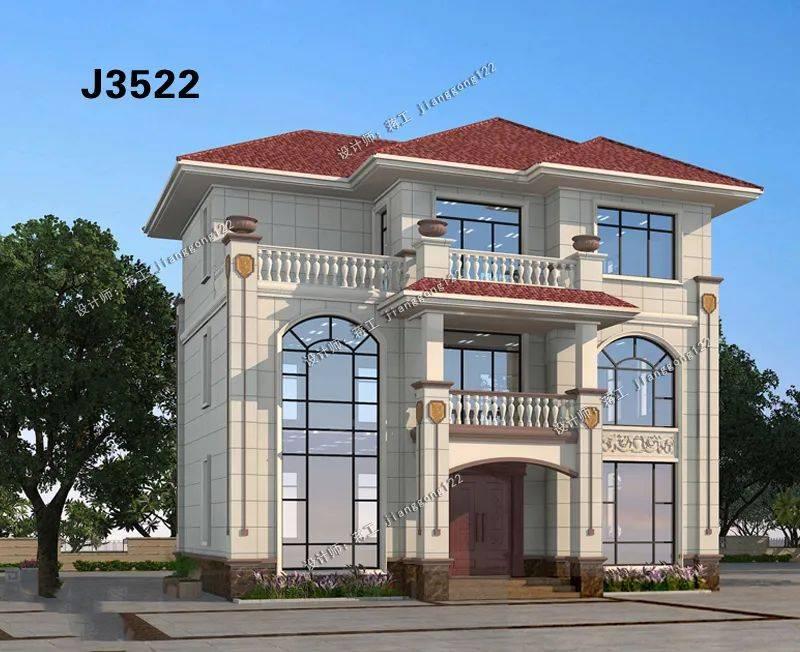 12×9米欧式三层农村别墅,处处显品味,这个造价真值