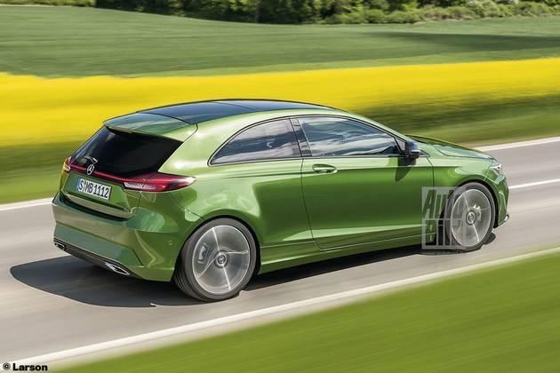 奔驰全新入门级轿车渲染图 有望2022年发布