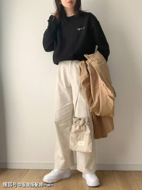 155cm小个子女生别错过休闲裤 照这4种方法选 显高显腿长 爸爸 第14张