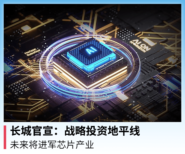 长城官宣:战略投资地平线,未来将进军芯片产业_智能