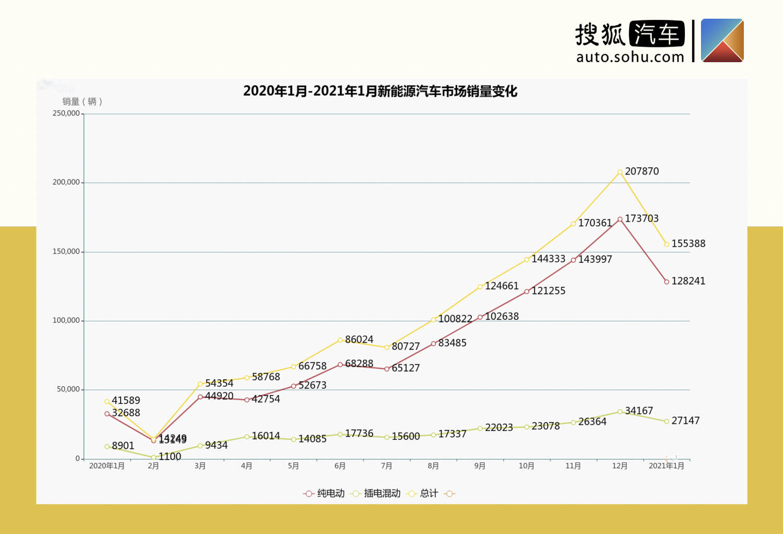 MINI EV再次夺冠/微型车比例增高 1月新能源车市销量分析