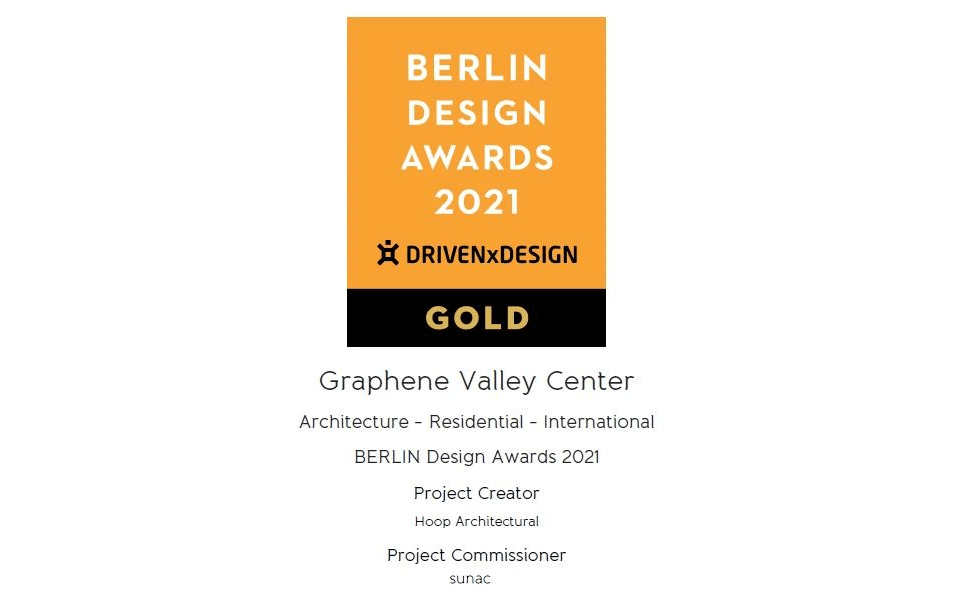 济南谷国际中心获得2021年柏林设计奖,其设计灵感来自石墨烯