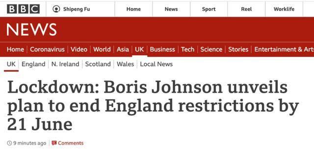 英国官宣四步解封计划,6月底将完全恢复正常!