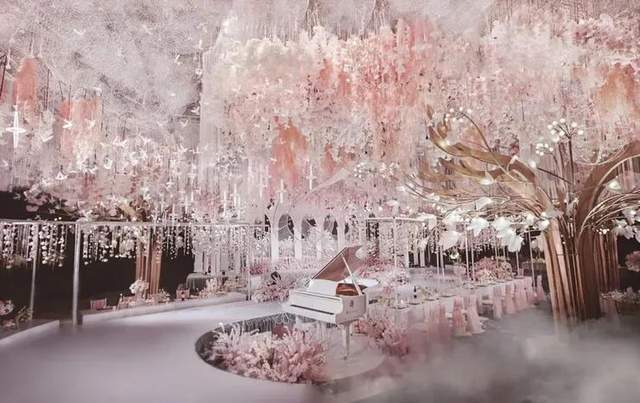 原创浪漫优雅浅粉色婚礼,喜欢童话的我送你一座城堡
