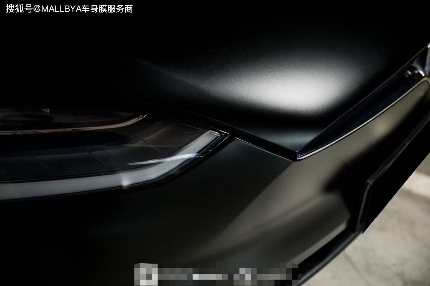 特斯拉Model X全车换色磨砂黑 科幻又复古的奢华