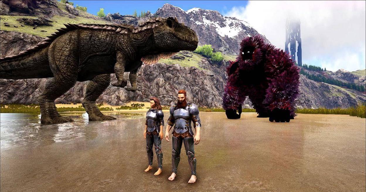 Steam沙盒游戏推荐,《方舟生存进化》主播为的神器出卖色相
