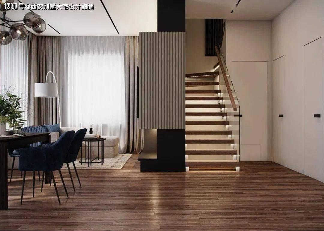 西安别墅大宅设计:154㎡的复式住宅,明暗交