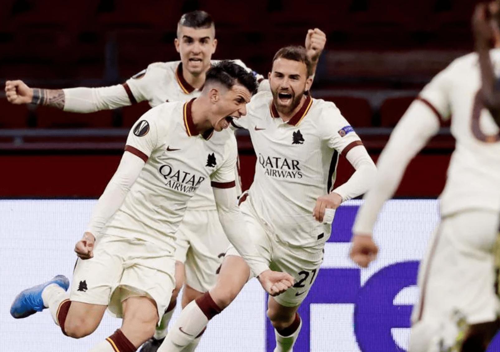 欧联-莫雷诺点射黄潜1-0 阿贾克斯1-2遭罗马逆转