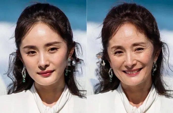 女明星30年后对比照:杨幂慈祥,刘诗诗优雅,杨颖显年轻
