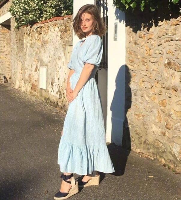 """原创             你懂""""小个子""""的法式浪漫吗?Camille Yolaine穿搭走红ins"""
