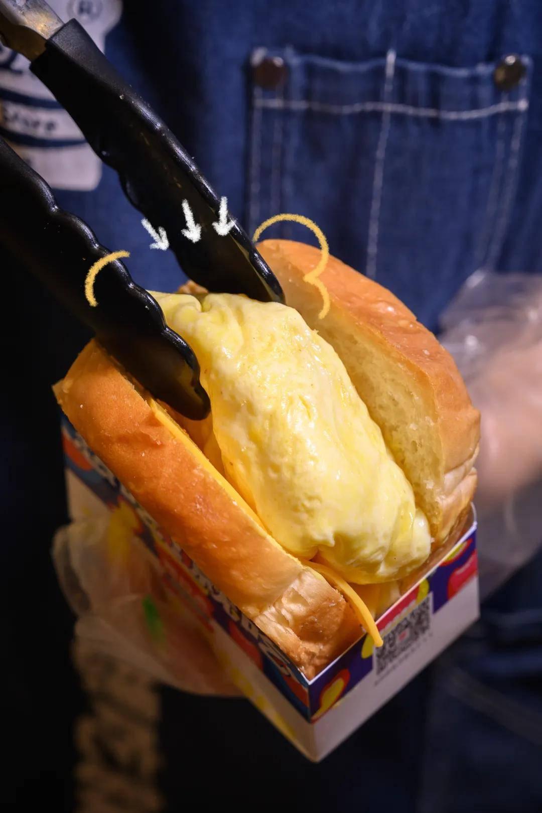 爆蛋吐司来江南西了,厚肉会Biu汁,蛋比布丁滑