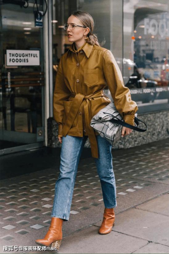 牛仔裤的3种搭配公式 ,上班照着穿老练又有气质