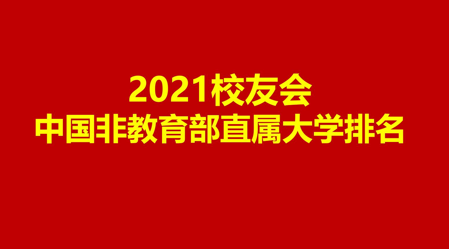2021中国非教育部直属大学排名,中国科大第1,哈工大第2