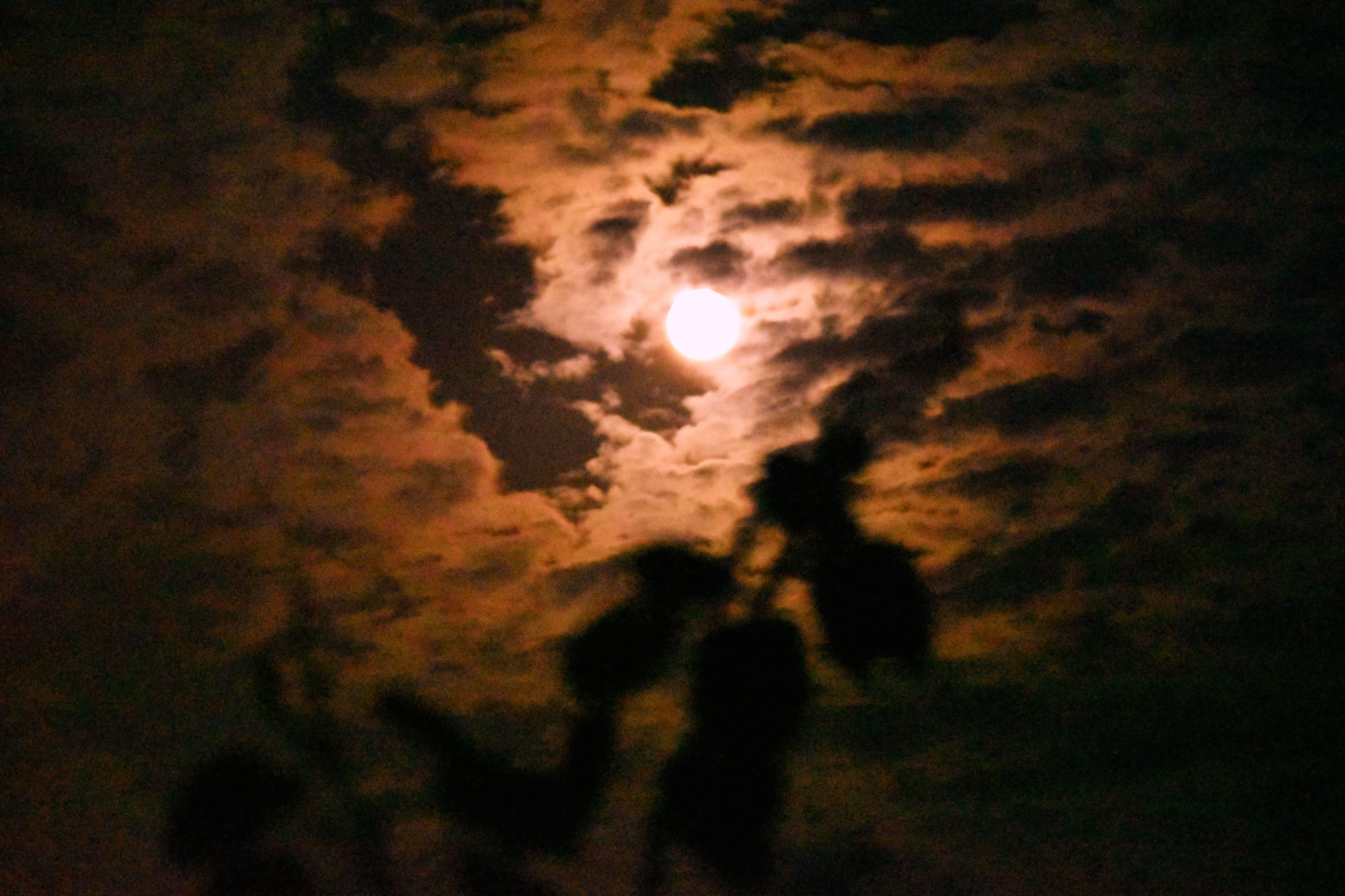 忠县人你看到了吗?超级红月亮惊艳亮相,美轮美奂