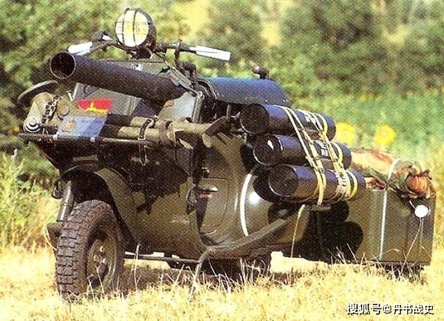 """法国黄蜂150TAP反坦克摩托车,法军""""心爱的小摩托"""""""