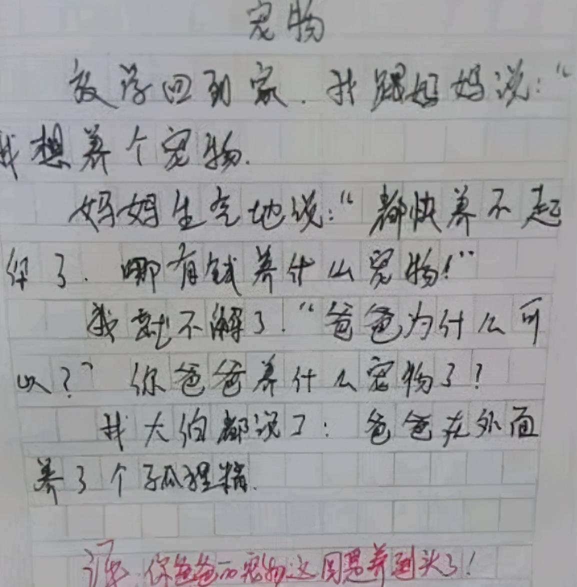 小学生作文《姑姑》走红,内容过于真实,姑姑:嫁不出去就怨你