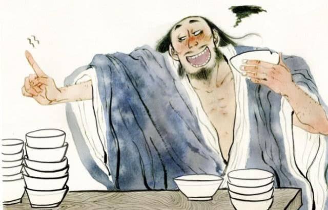 """历史第一酒鬼,被老婆扔进酒缸后爬出,说三字成酒桌的""""口头禅"""""""