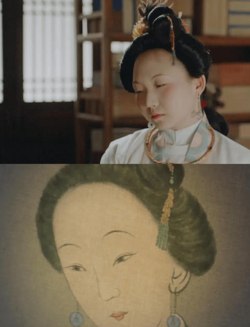 辣目洋子撞脸古画,柳叶眉樱桃嘴似复制粘贴,网友:穿越过来的吧
