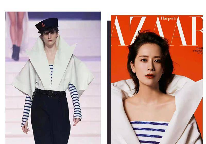 海清长卷发造型:复古浓郁妆容再现摩登时尚,风情万种,气场全开